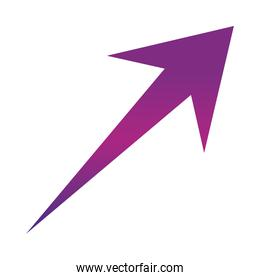 arrow direction related icon, up growth graphic concept gradient style