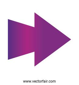 arrow direction related, right pointed orientation gradient style icon