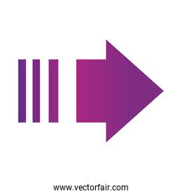 arrow direction related icon, right pointed orientation gradient style