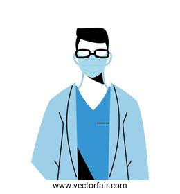 male doctor wearing surgical mask