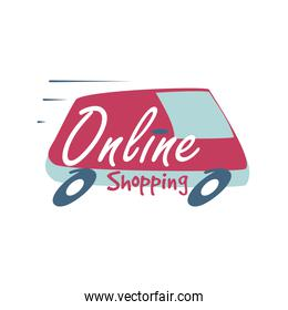 online shopping, lettering about online shopping