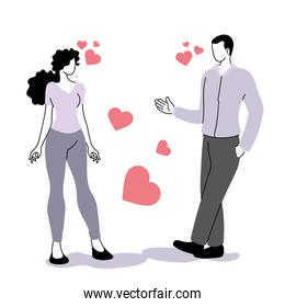 young couple on special love date