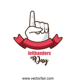 lefthanders day celebration with left hand