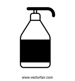 soap dispenser lineal style icon vector design