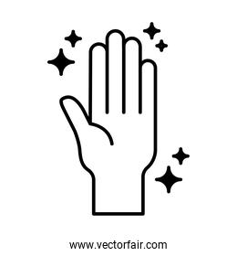 clean hand lineal style icon vector design