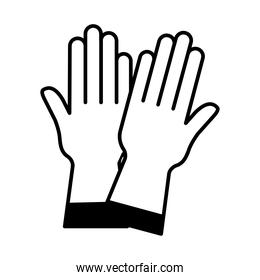 gloves lineal style icon vector design