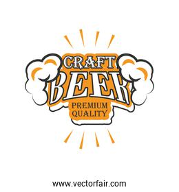 craft beer premiun quality, beer foam