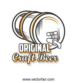 original craft beer, beer barrel