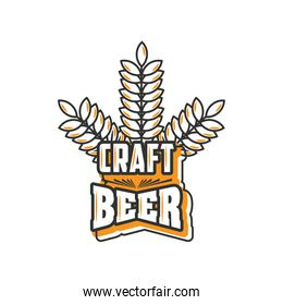 craft beer festival , leaves wheat