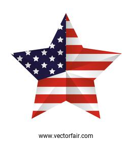 united states of america flag in star
