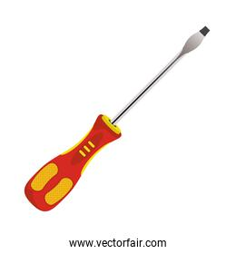 screwdriver tool equipment isolated icon