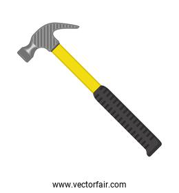 hammer tool equipment isolated icon