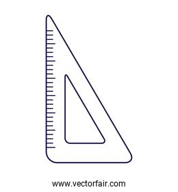 triangle rule supply tool isolated icon