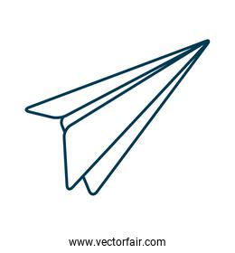 airplane paper flying isolated icon