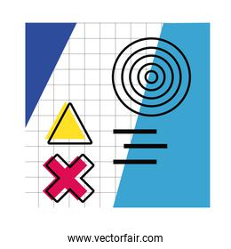 abstract poster with colors and figures geometrics