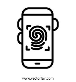 smartphone device with finger print line style
