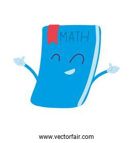 school notebooks with happy face cartoon