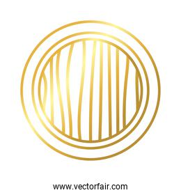 circular frame decoration golden gradient style icon