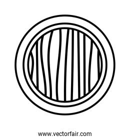 circular frame decoration silhouette style icon