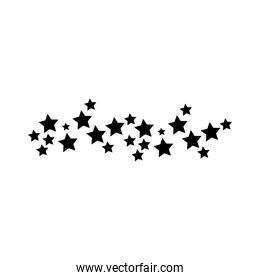 stars frame decoration silhouette style icon