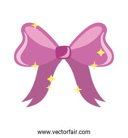 cute bow ribbon hand draw style icon