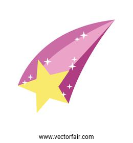 shooting star hand draw style icon