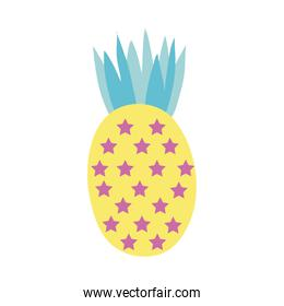 sweet pineapple with stars hand draw style icon