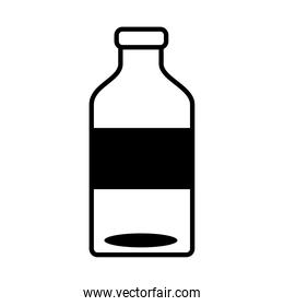 water bottle drink line style icon