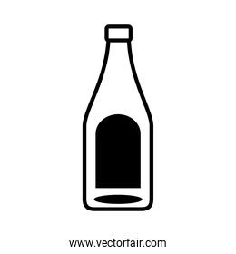 beer bottle drink line style icon