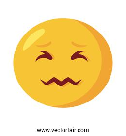 angry emoji face flat style icon