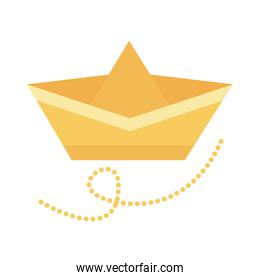 paper ship flat style icon