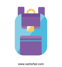 blue and purple school bag equipment flat style