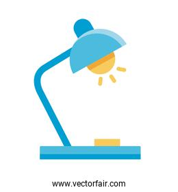 lamp desk flat style icon
