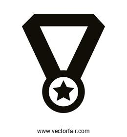 medal award silhouette style icon