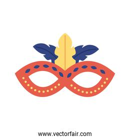 carnival mask flat style icon