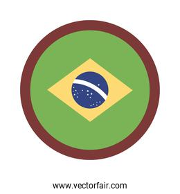 brazil flag seal flat style icon