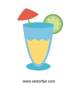 tropical cocktail flat style icon