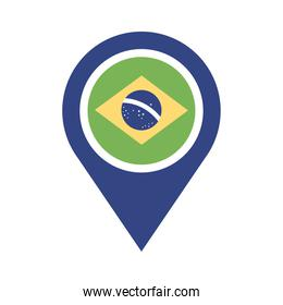 brazil flag in pin location flat style icon