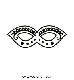 carnival mask line style icon