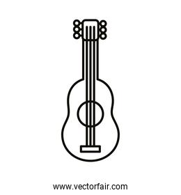 guitar instrument line style icon