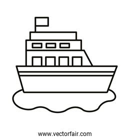 ship boat line style icon