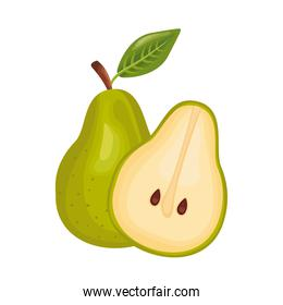 pear fresh delicious fruit detailed style icon