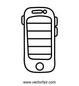 smartphone with stripes line style icon