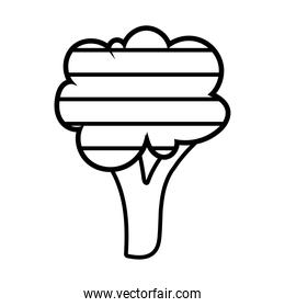 tree with stripes line style icon