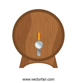 Isolated barrel of beer vector design
