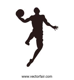 silhouette of basketball player icon