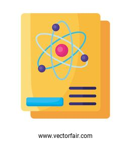 document medical with molecule isolated icon