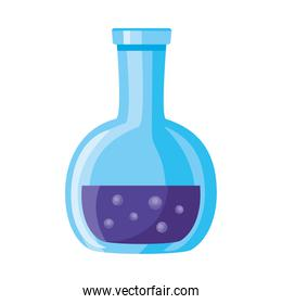 medical tube test flask laboratory isolated icon