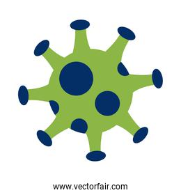 covid19 pandemic particle isolated icon