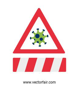 covid19 pandemic particle in alert signal